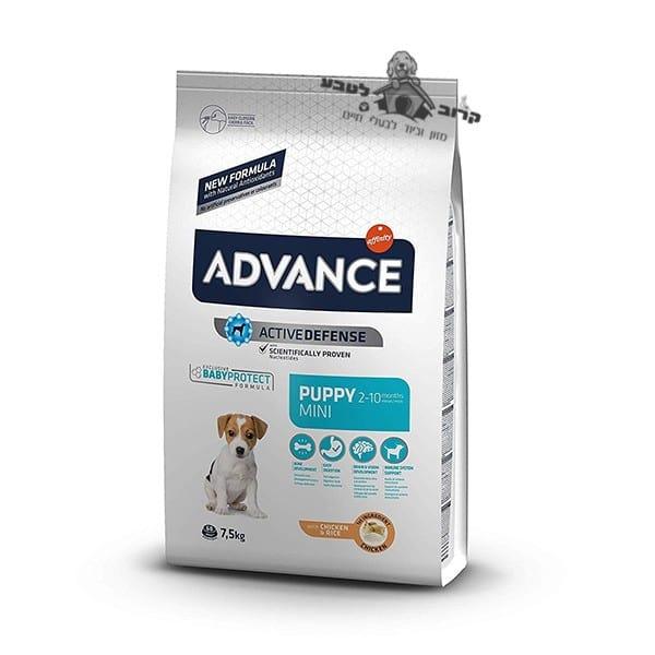 """אדוונס מזון יבש לגור כלבים מגזע קטן עוף 7.5 ק""""ג"""