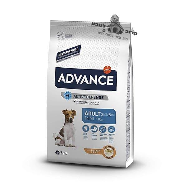 """אדוונס מזון יבש לכלב בוגר מגזע קטן עוף 7.5 ק""""ג"""