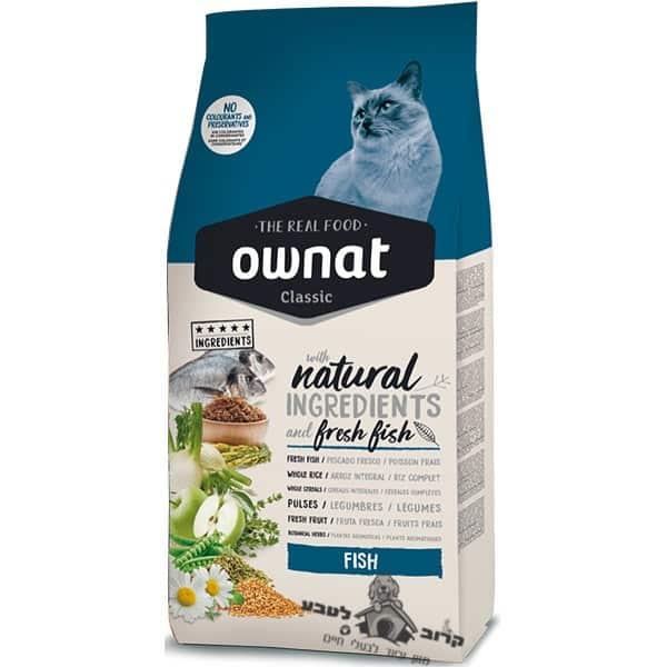 """אוונט קלאסיק דגים אוכל לחתול בוגר 4 ק""""ג"""