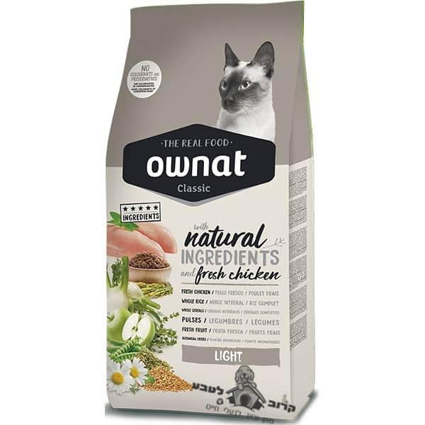"""אוונט קלאסיק לייט אוכל לחתולים מופחת שומן 4 ק""""ג"""