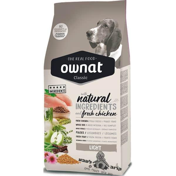 """אוונט קלאסיק לייט אוכל מופחת שומן לכלבים 4 ק""""ג"""