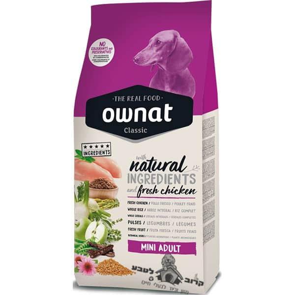 """אוונט קלאסיק מיני אוכל לכלבים מגזע קטן 4 ק""""ג"""