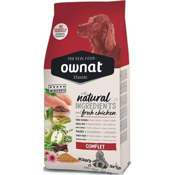 """אוונט קלאסיק קומפלט עוף אוכל לכלב בוגר 15 ק""""ג"""