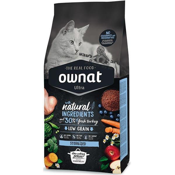 """אוונט – OWNAT אולטרה סטרלייזד לחתולים מסורסים 1.5 ק""""ג"""