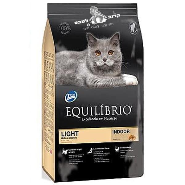 """אוכל לחתולים אקווליבריו Equilibrio לייט 1.5 ק""""ג"""