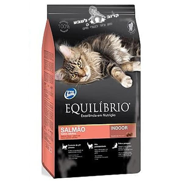 """אוכל לחתולים אקווליבריו Equilibrio סלמון 1.5 ק""""ג"""