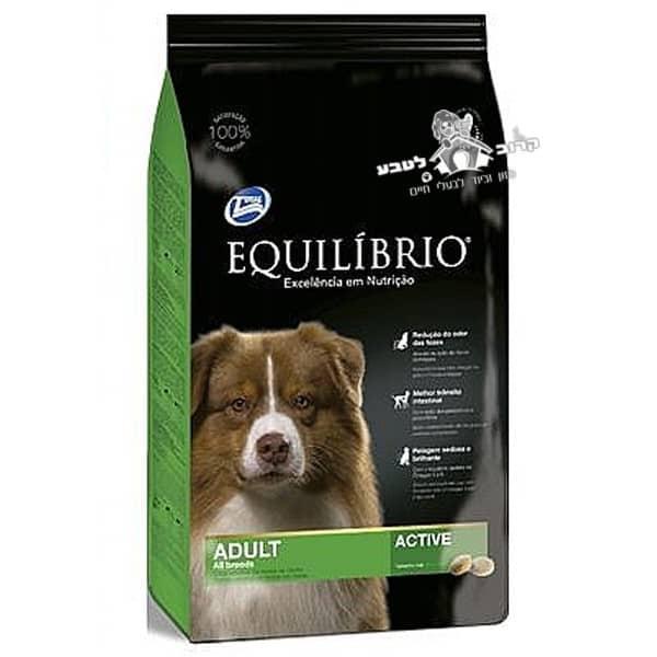 """אוכל לכלבים אקווליבריו גזע בינוני מדיום 15 ק""""ג"""