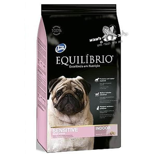 """אוכל לכלבים אקווליבריו גזע קטן סנסטיב מיני כבש 2 ק""""ג"""