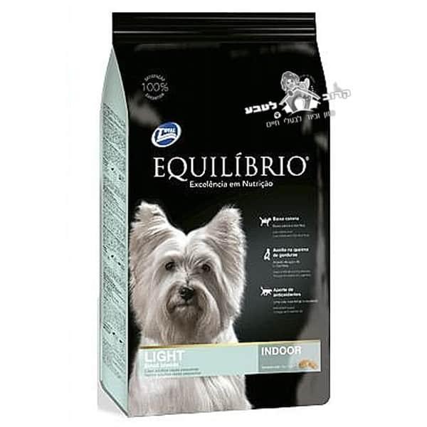 """אוכל לכלבים אקווליבריו Equilibrio גזע קטן לייט מיני 2 ק""""ג"""