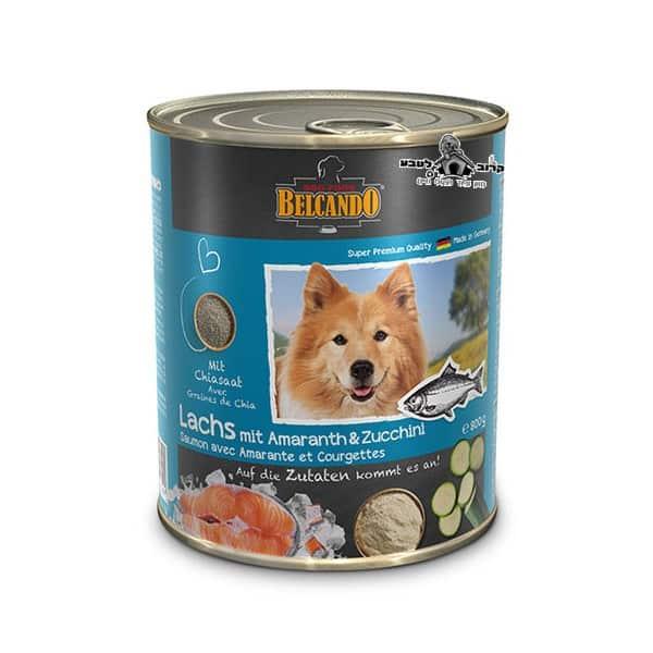 בלקנדו– שימורי מזון כלבים – סלמון וירקות – 800 גר'