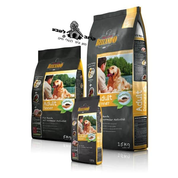 """בלקנדו – Belcando – מזון לכלבים עם רמות פעילות רגילות – עוף ודג – שק 15 ק""""ג"""