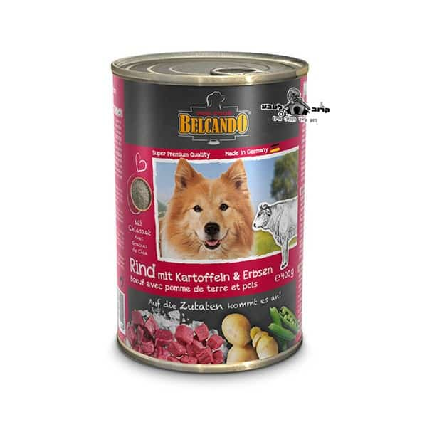 בלקנדו Belcando – שימורי מזון כלבים – בקר תפוח אדמה + אפונה 800 גר'