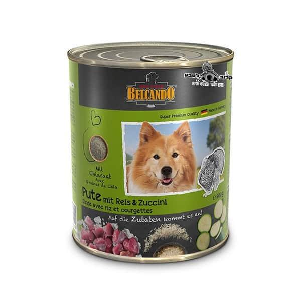 בלקנדו Belcando – שימורי מזון כלבים – הודו אורז קישוא 800 גר'