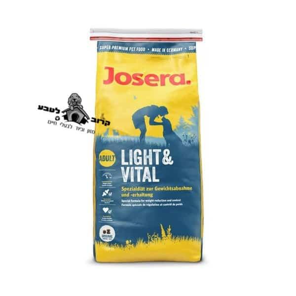 "ג'וסרה כלב בוגר לייט וויטל 15 ק""ג LIGHT & VITAL"