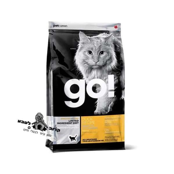 גו !GO לחתול ברווז 3.6 קג מזון לחתול גו