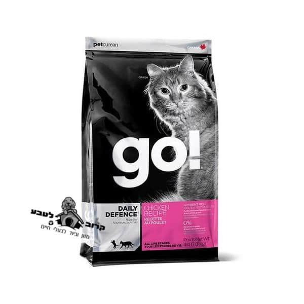 גו !GO לחתול עוף 3.6 קג מזון לחתול גו