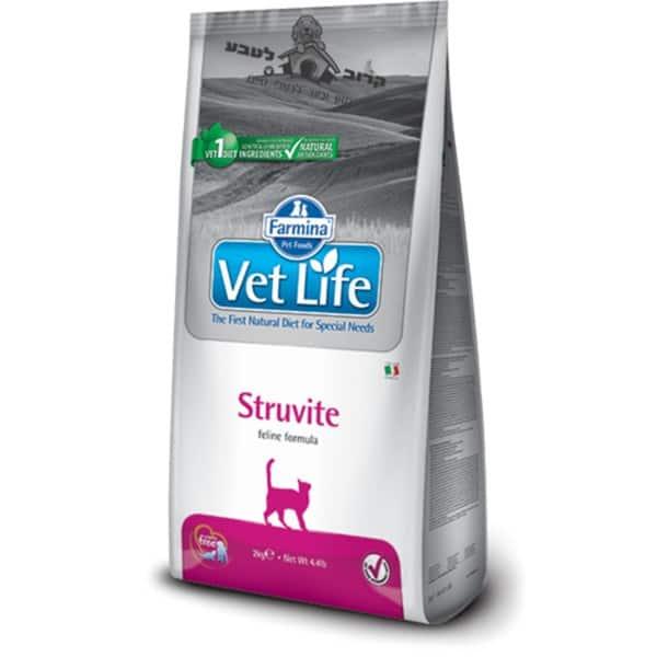 """וט לייף Vet Life – מזון רפואי לחתול בוגר עם אבנים בדרכי השתן – 2 ק""""ג פארמינה Farmina"""