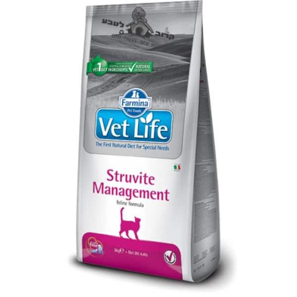 """וט לייף Vet Life – מזון רפואי לחתול בוגר עם אבנים ודלקת במערכת השתן – 2 ק""""ג פארמינה Farmina"""