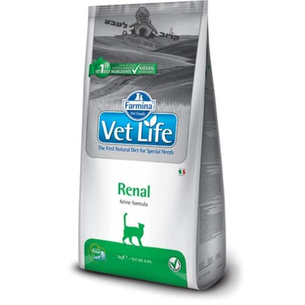 """וט לייף – Vet Life – מזון רפואי לחתול בוגר עם אי ספיקת כליות כרונית – 2 ק""""ג פארמינה Farmina"""