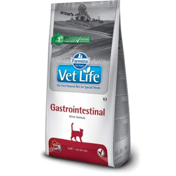 """וט לייף – Vet Life – מזון רפואי לחתול בוגר עם הפרעות במערכת העיכול והלבלב – 2 ק""""ג פארמינה Farmina"""