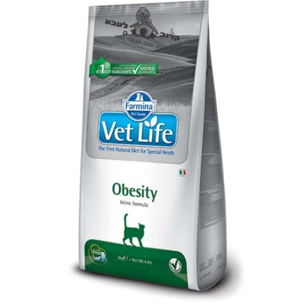 """וט לייף – Vet Life – מזון רפואי לחתול בוגר עם משקל עודף – 5 ק""""ג פארמינה Farmina"""