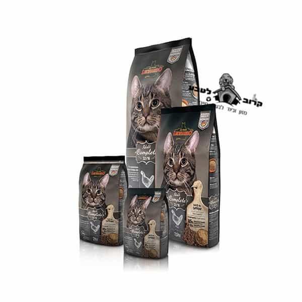 """מזון חתולים פעילות נמוכה/עודף משקל – Adult Complete 32/16 – שק 2 ק""""ג לאונרדו Leonardo"""