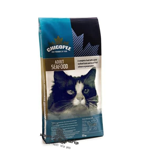 """מזון יבש לחתולים מבוגרים בטעם מאכלי ים 15 ק""""ג Chicopee"""
