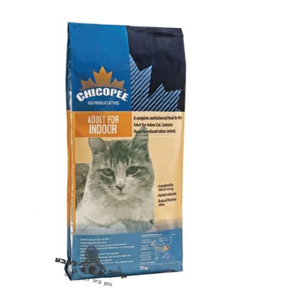 """מזון יבש לחתולי בית בוגרים 15 ק""""ג Chicopee"""