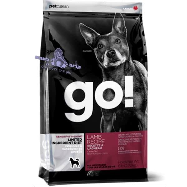 """GO – גו מזון יבש לכלב ללא דגנים – טלה / כבש – שק 11.34 ק""""ג"""