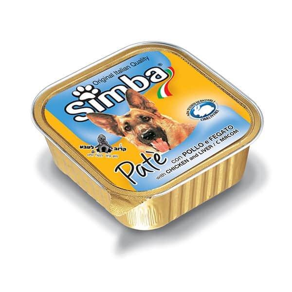 סימבה מעדן לכלב פטה עם עוף וכבד