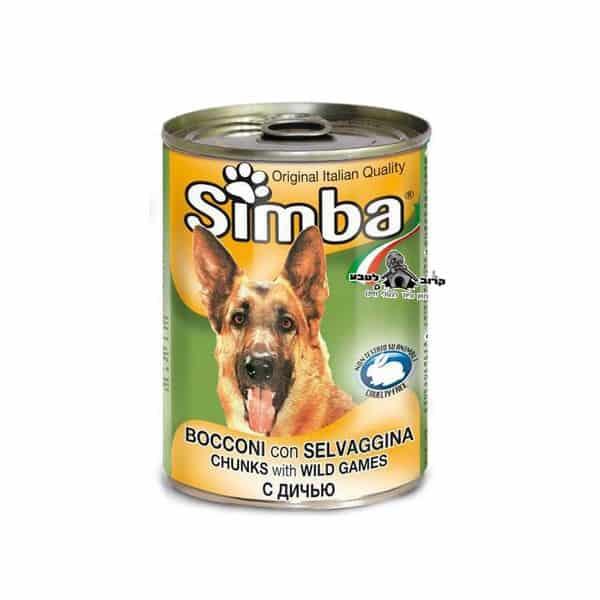 סימבה – שימורים לכלב בטעם בשר ציד 400 גרם מונג' Monge