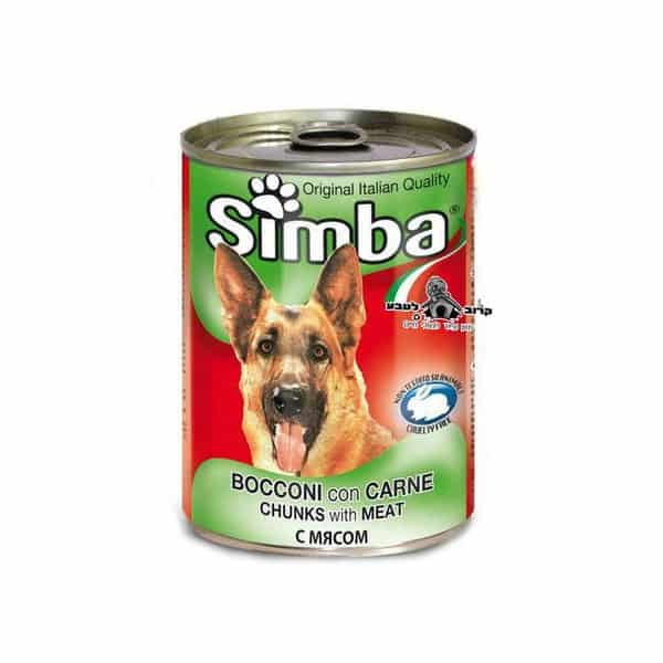 סימבה – שימורים לכלב בטעם בשר 400 גרם מונג' Monge