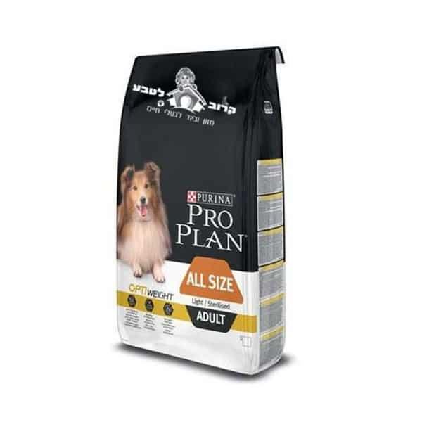 """פורינה פרו פלאן – לכלב בוגר מכל הגזעים דיאט / לייט / מסורס – 14 ק""""ג פרו פלאן Pro Plan"""