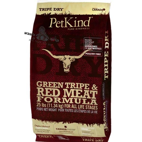 """פטקיינד אוכל לכלב - Petkind - רד (בשר אדום) ללא דגנים על בסיס קירשה - שק 11.3 ק""""ג"""