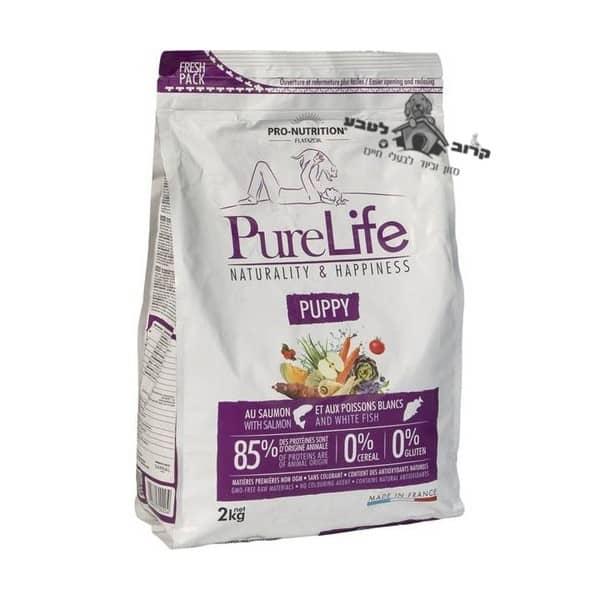 """פיורלייף מזון יבש לכלבות מניקות וגורים מכל הגזעים – שק 12 ק""""ג פיור לייף PureLife"""