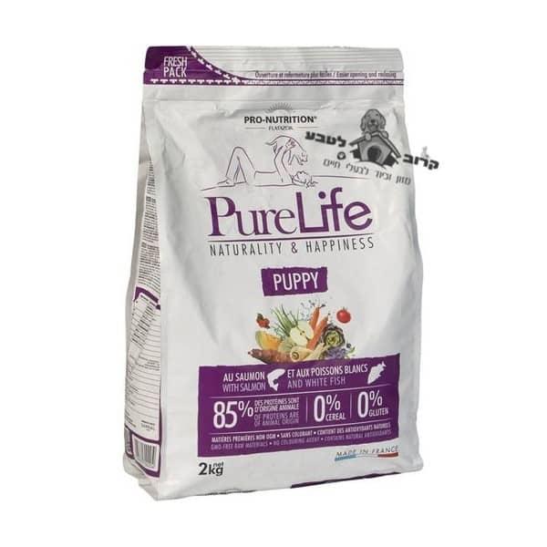 """פיורלייף מזון יבש לכלבות מניקות וגורים מכל הגזעים – שק 2 ק""""ג פיור לייף PureLife"""