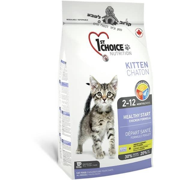 """פירסט צ'ויס אוכל לגורי חתולים 5.4 ק""""ג"""