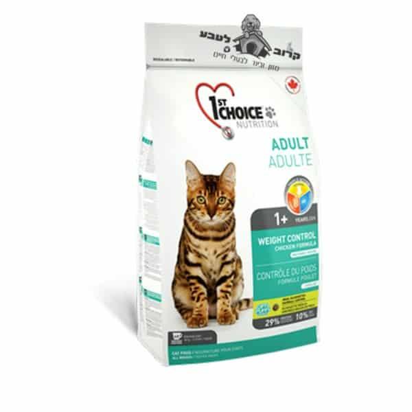 """פירסט צ'ויס לייט אוכל לחתולים שמנים 5.4 ק""""ג"""
