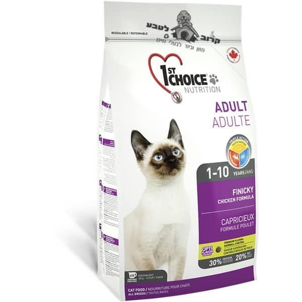 """פירסט צ'ויס פיניקי אוכל לחתולים בררנים 5.4 ק""""ג"""