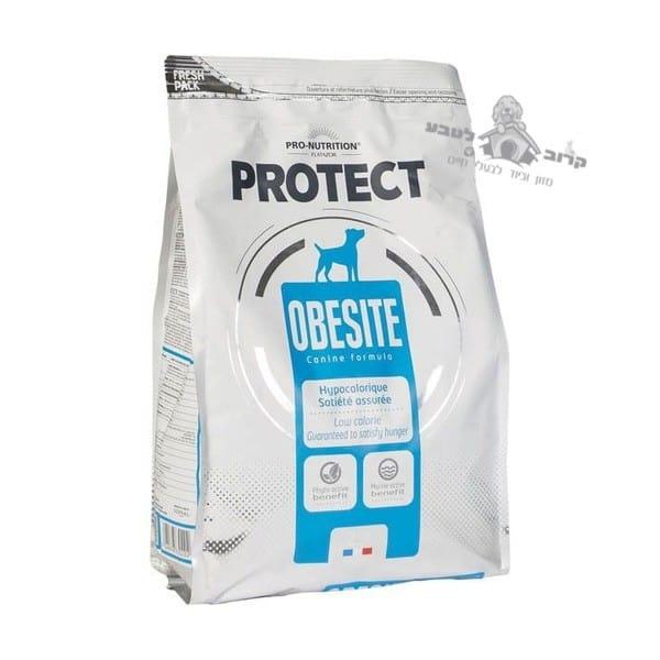 """פרוטקט מזון יבש לכלב אוביסט OBESITE להפחתת משקל עודף – שק 2 ק""""ג פרוטקט PROTECT"""