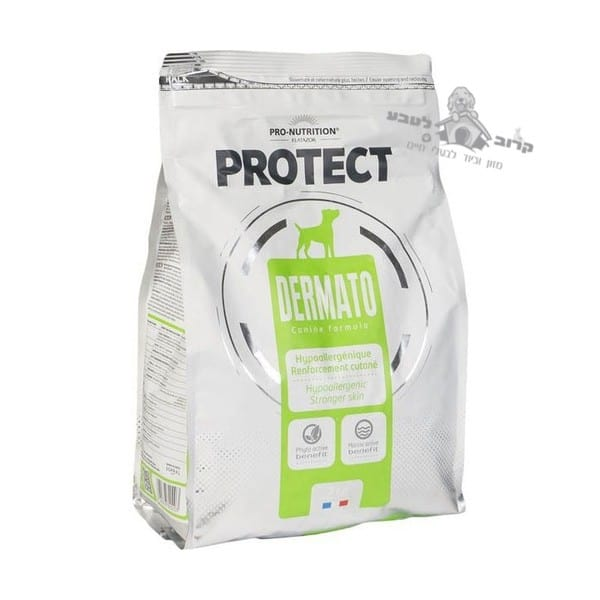 """פרוטקט מזון יבש לכלב דרמטו DERMATO לרגישות בעור – שק 2 ק""""ג פרוטקט PROTECT"""