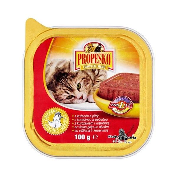 פרופסקו מעדן פטה 100 גרם לחתול בטעם עוף Propesko