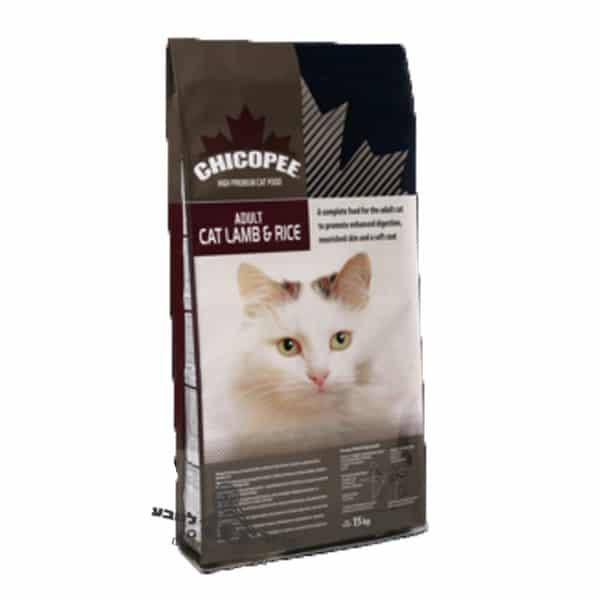 """צ'יקופי כבש ואורז 15 ק""""ג – מזון יבש לחתולים בוגרים"""