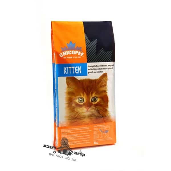 """צ'יקופי קיטן 15 ק""""ג – מזון יבש לגורי חתולים עד גיל 12 חודשים ולחתולות מניקות"""