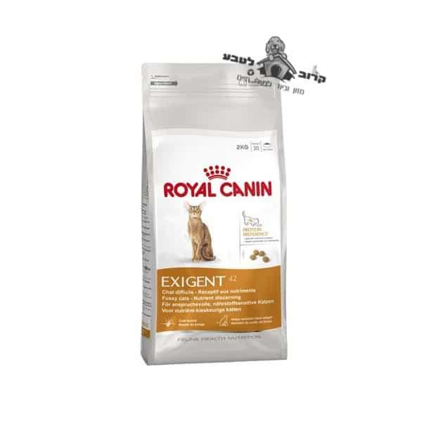 """רויאל קנין מזון לחתול – אקסיג'נט פרוטאין Exigent Protein- משקל 4 ק""""ג רויאל קנין Royal Canin"""