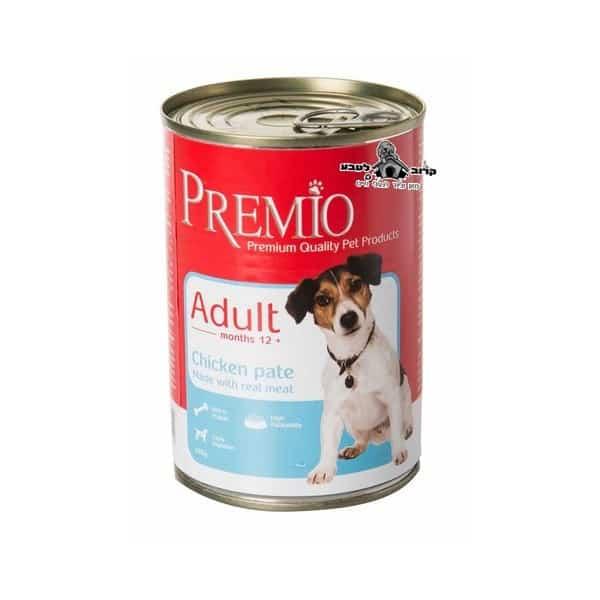 שימורי פרמיו לכלב בוגר עוף 400 גרם