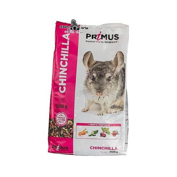 """תערובת מזון לצ'ינצ'ילה פרימוס בנלוקס 2.5 ק""""ג"""