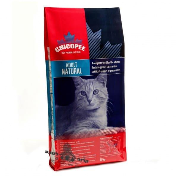 """Chicopee צ'יקופי 15 ק""""ג מזון יבש לחתולים בוגרים ללא חומרים משמרים (נאטורל)"""