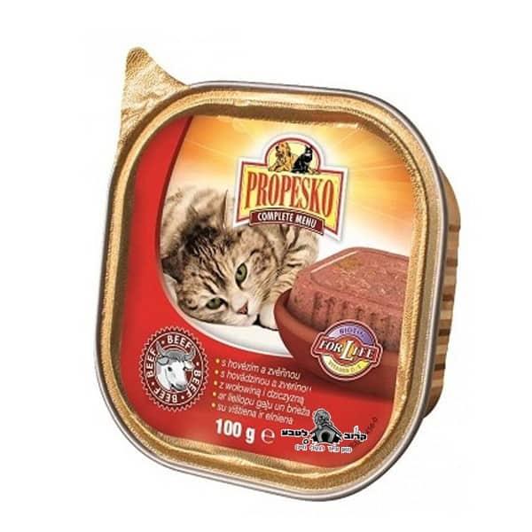 פרופסקו מעדן פטה 100 גרם לחתול בטעם בקר Propesko