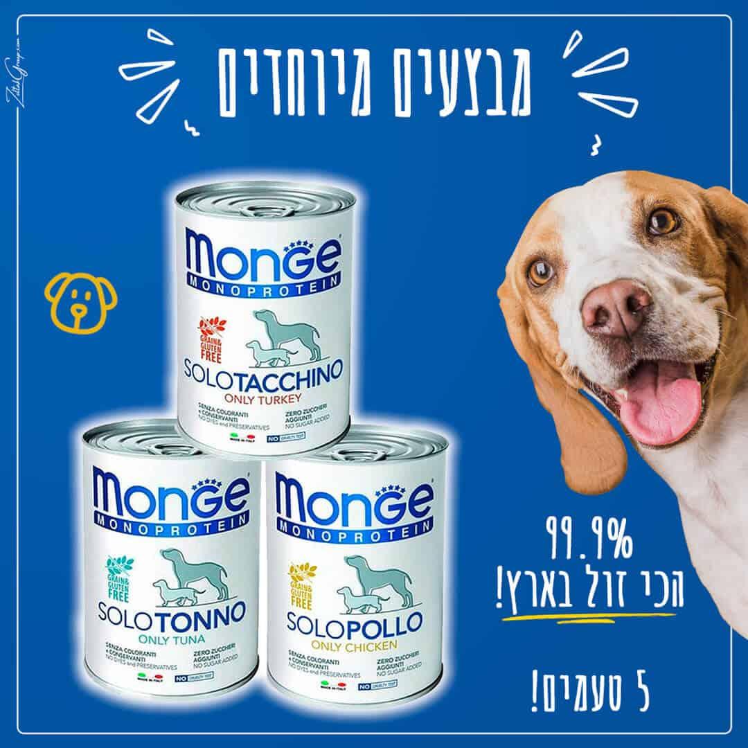 MONGE מונג' מזון רטוב לכלבים